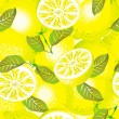 Stock Vector: Lemon background