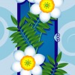 Card with white flowers — Stockvector #24743873