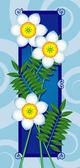 与白色的花卡 — 图库矢量图片