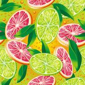 Citrus background — Stock Vector