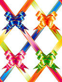 Multicolored ribbons — Stock Vector