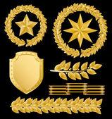Gold laurels — Stock Vector