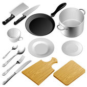Mutfak aletleri — Stok Vektör