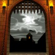 Castle gate — Vector de stock