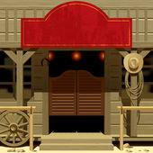 Wild West Saloon — Stock Vector