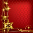 Christmas and New-Year's greeting card — Image vectorielle
