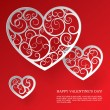 Paper hearts — Stock Vector
