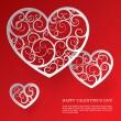 Бумага сердца — Cтоковый вектор