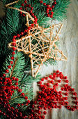 Branches were eaten with toys and beads — Stock Photo
