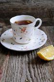 šálek čaje s citronem — Stock fotografie