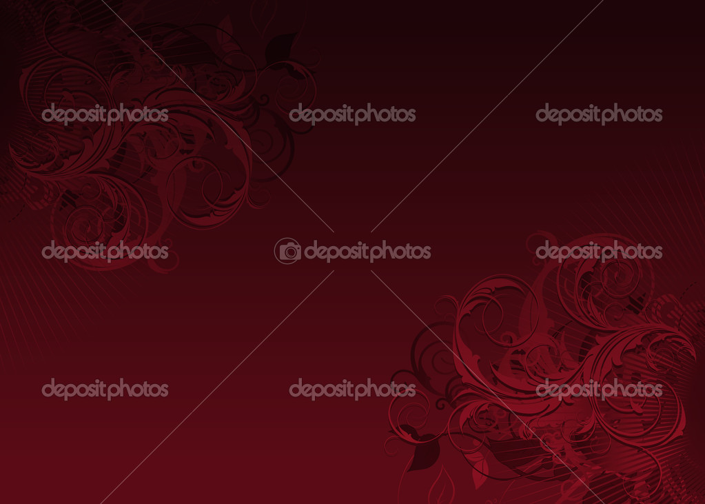 Abstract seamless red floral background  — Stock Photo #17344361