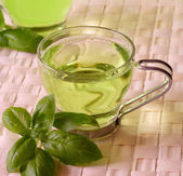 Green Tea Cup — Stock Photo