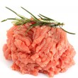 Raw minced meat with rosemary - Stok fotoğraf