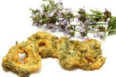 Delicious sage fritters — Stock Photo