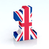 Number one with english flag — Stock Photo