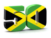 Number 50 made with Jamaican flag — Stock Photo