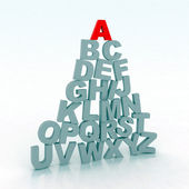Alphabet d'illustration 3d — Photo