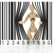 Puppet barcode — Stock Photo