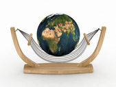 The world resting on the hammock — Stock Photo
