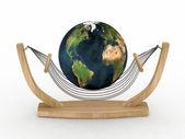 Svět na houpací síť — Stock fotografie