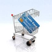 Shopping cart that bites — Stock Photo