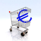 Shopping cart that bites — Stock Photo