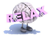 Human brain that embraces word relax — Stock Photo