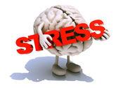 Word stres kucaklayan insan beyni — Stok fotoğraf
