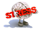 Human brain that embraces word stress — Stock Photo