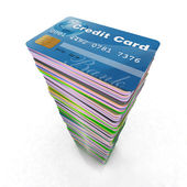 Colored credit cards — Stock Photo