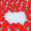 Little red hearts — Stock Photo