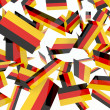 German flags - Stock Photo