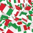 Italian flags - Stock Photo