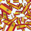 Spanish flags - Stock Photo