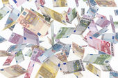 Euro in the air — Stock Photo