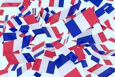 Banderas francesas — Foto de Stock