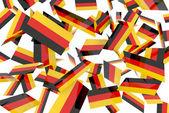 German flags — Stock Photo