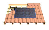 Roof with solar panels — Stock Photo