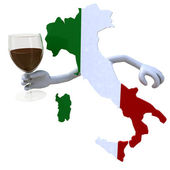 Map of Italy cheers — Stock Photo