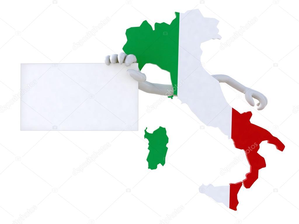 意大利卡通地图