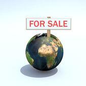 Dünyanın satılık — Stok fotoğraf