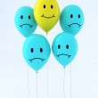 Five balloon with emoticons — Stock Photo