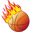 Royalty-Free Stock Photo: Basket ball on fire