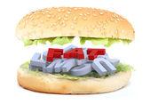 The big burger fat — Stock Photo