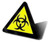 Warning sign bio hazard danger — Stock Photo