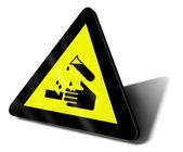 Warning sign acid danger — Stock Photo