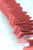 Pink tape illustration abstract — Stock Photo