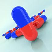 Medicine pills illustration — Stock Photo