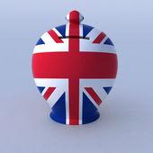 英語のフラグ付きのお金ボックス — ストック写真