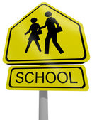 Traffic sign school — Stock Photo